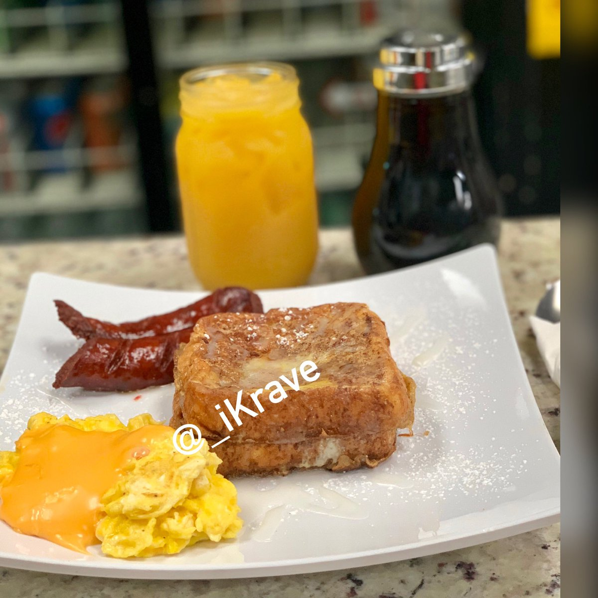 #iKravers Starting tomorrow Tuesday, June 18th iKrave will be serving full breakfast. Doors open at 7am. Breakfast is served until 11:30am on the weekdays.. 😋 Summer Ready ☀️ Come and try our new mouth watering 🤤French Toast #shrimpandgrits #oxtailsandgrits