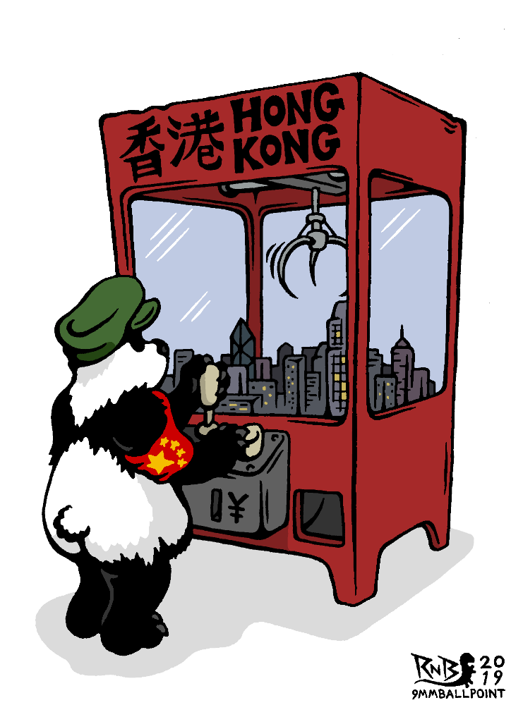 New #HongKongProtests #extraditionbill cartoon: http://9mmballpoint.blogspot.com/2019/06/power-grab.html …