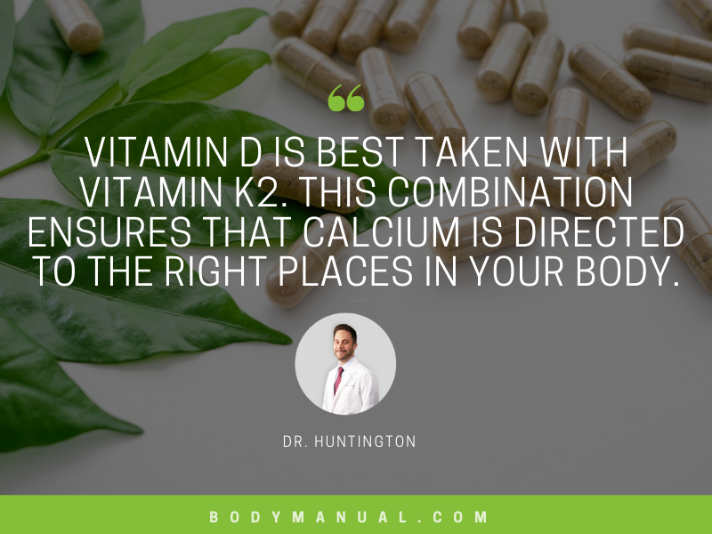 #HealthTip: #VitaminD is best taken with vitamin K2. This combination ensures that #calcium is directed to the right places in your body.