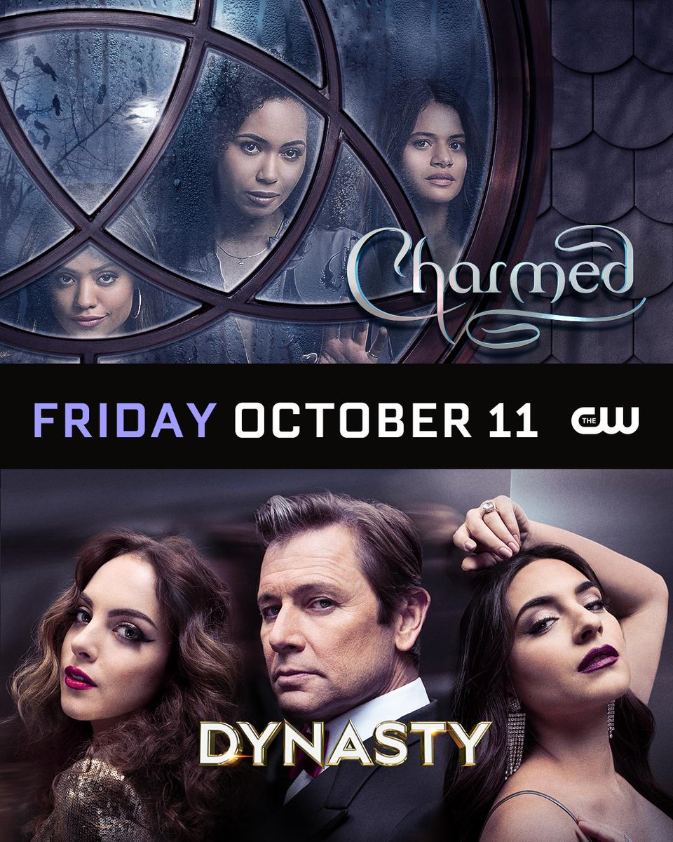 Lifestyles of the witch and famous. @cw_charmed and #Dynasty return Friday, October 11 on The CW!