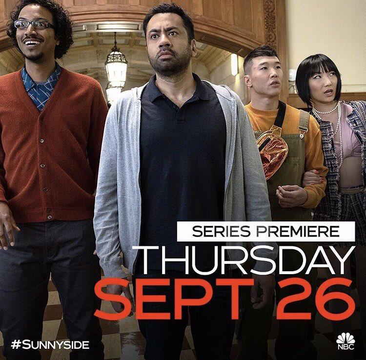 #Sunnyside series premiere is Thursday, September 26 at 9:30pm on @nbc.