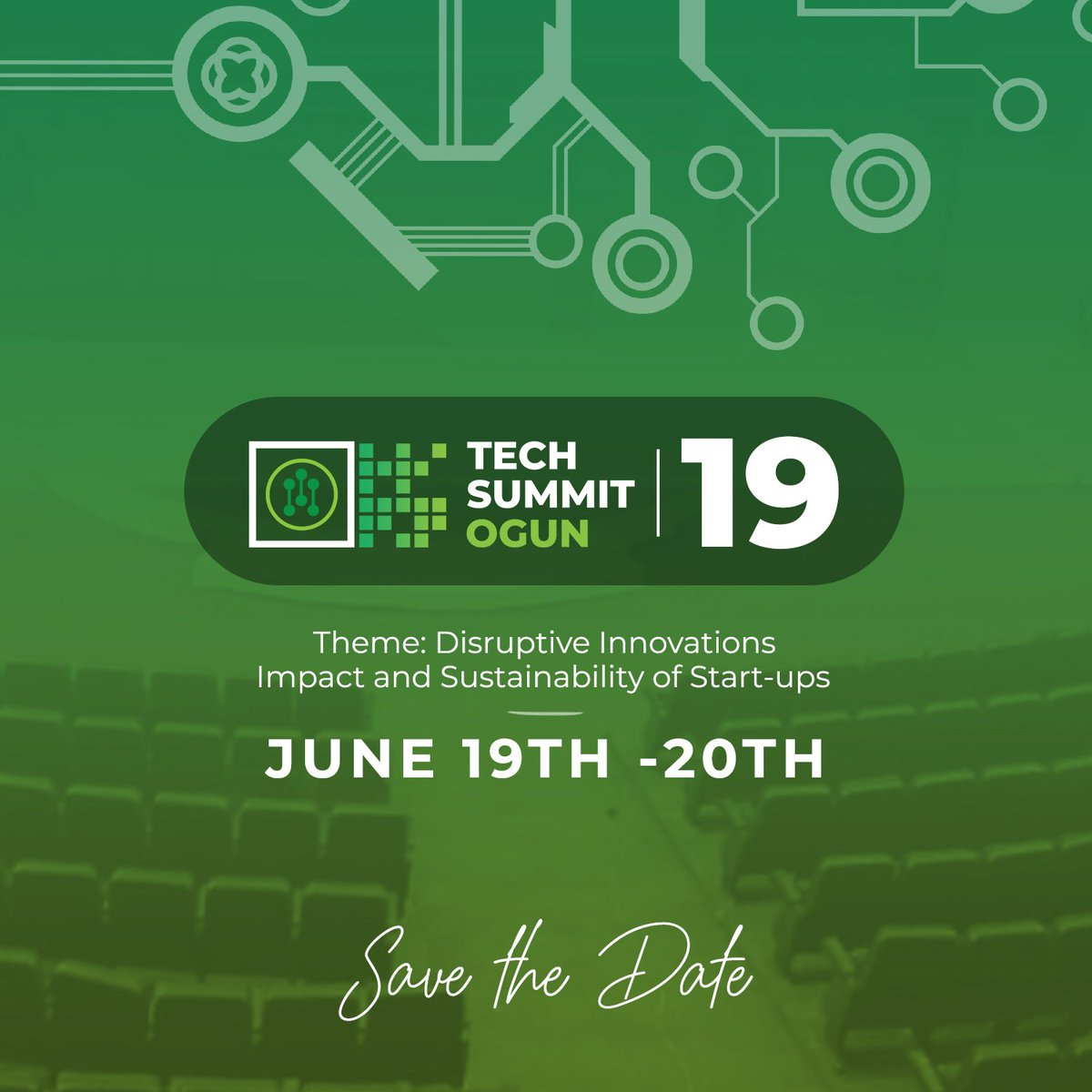 Tech Summit Ogun is the largest event for tech startups. You don't want to miss this #TechSummitOgun19<br>http://pic.twitter.com/N5qxq5QITN