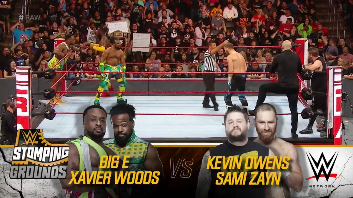 The New Day Vs. Kevin Owens And Sami Zayn Set For WWE Stomping Grounds