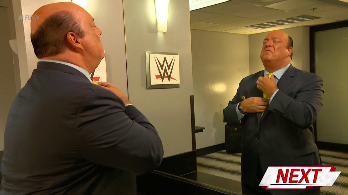 UP NEXT: Is Mr. #MITB @BrockLesnar HERE?! @HeymanHustle is set to join us on #RAW...