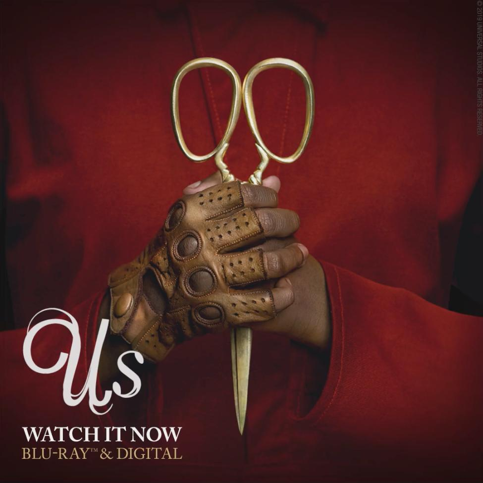 .@JordanPeele's masterpiece #UsMovie is now available on Blu-ray & DVD. ✂️✂️
