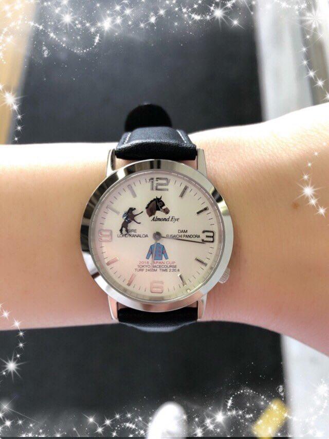 アーモンドアイ腕時計がやっと来た! 秒針がアイちゃんになってて可愛い^_^ #アーモンドアイ