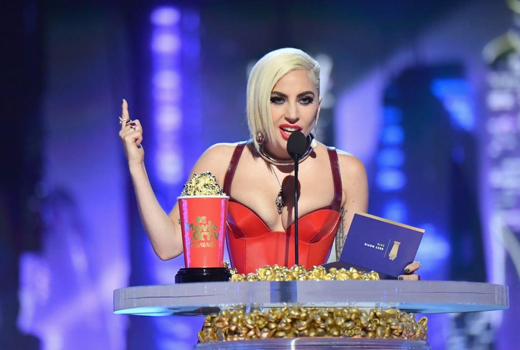 Lady Gaga has won TWO awards at the 2019 MTV Movie & TV Awards: 'Best Musical Moment' (Shallow) & 'Best Performance in a Movie'! #MTVAwards   #PremiosMTVMIAW  #MTVBRFANDOMLITTLEMONSTERS<br>http://pic.twitter.com/Iv9dKYCBqY