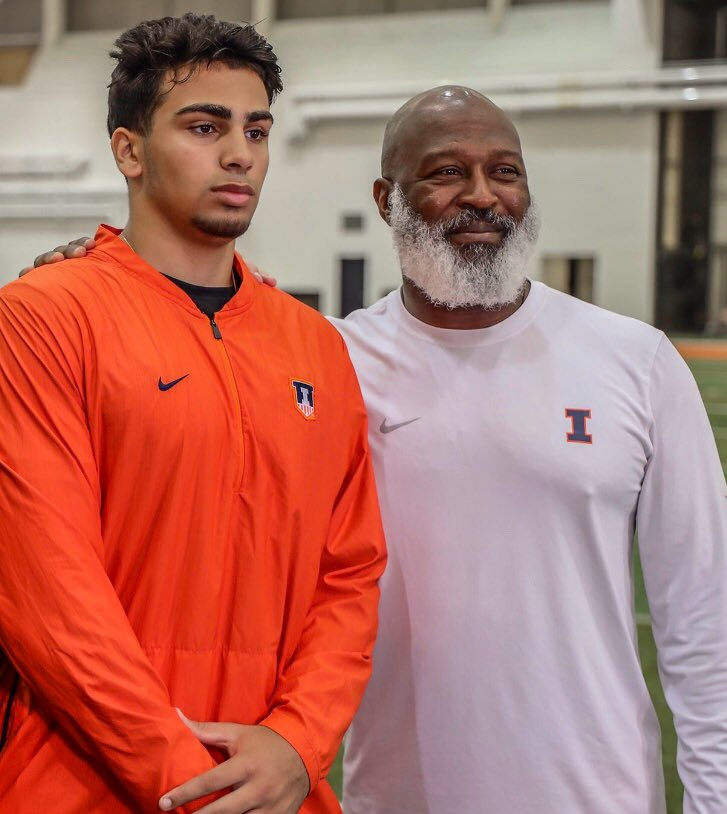 2020 Dearborn DL @Al_saad90 with Illinois Head Football Coach @LovieSmith on his Official Visit at The University of Illinois.  #Illini   #EarnIt<br>http://pic.twitter.com/QzWLhL5oZU