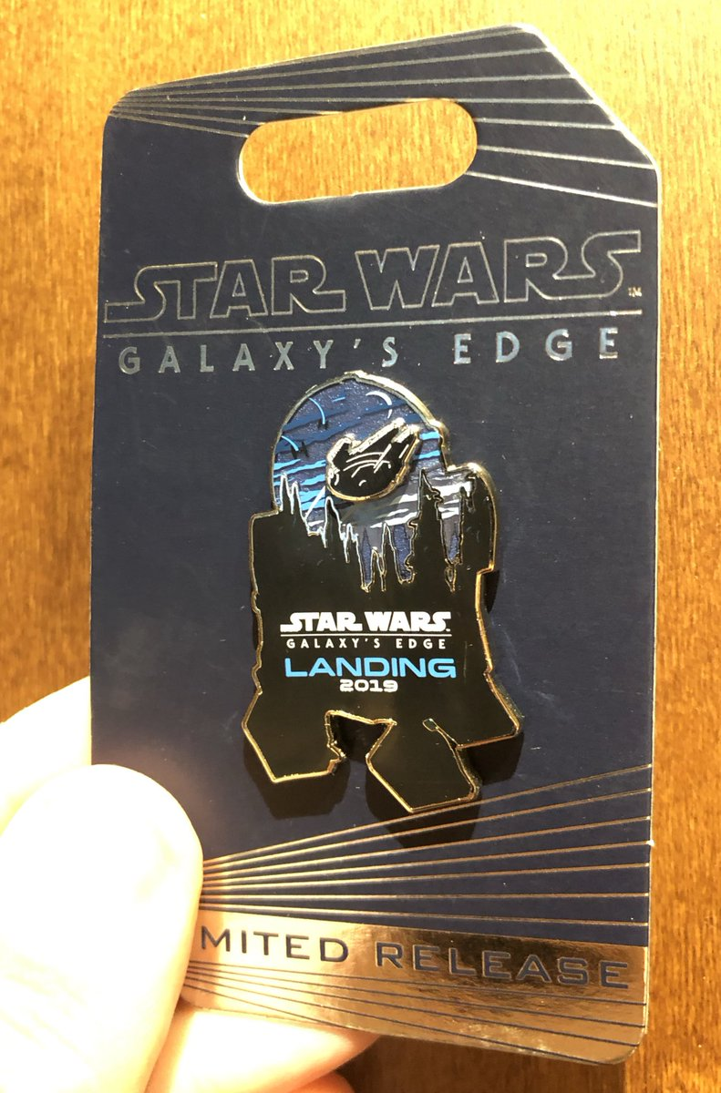 GIVEAWAY 13: Follow us, retweet and like this tweet to enter for a chance to win a limited release pin from the opening of #StarWarsGalaxysEdge <br>http://pic.twitter.com/tE6HlUBwqc