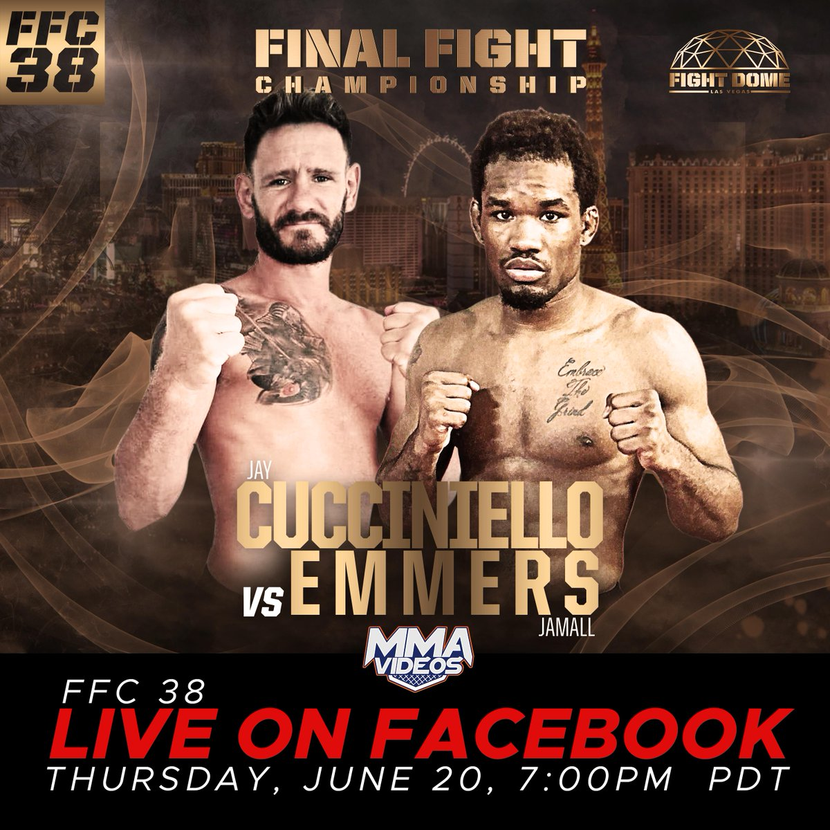 FFC 38 To Stream Live On Facebook, YouTube Thursday Night - https://www.themix.net/2018/06/ffc-38-to-stream-live-on-facebook-youtube-thursday-night/… #Ffc38 #FinalFightCage