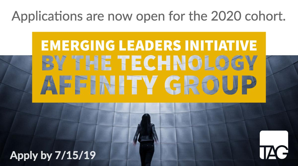 NOW OPEN! Applications for the sought-after emerging leaders program by @tagtechorg. The only initiative of its kind in #philanthropytech. Apply by July 15 to be considered for our 2020 cohort: https://tagtech.org/eli