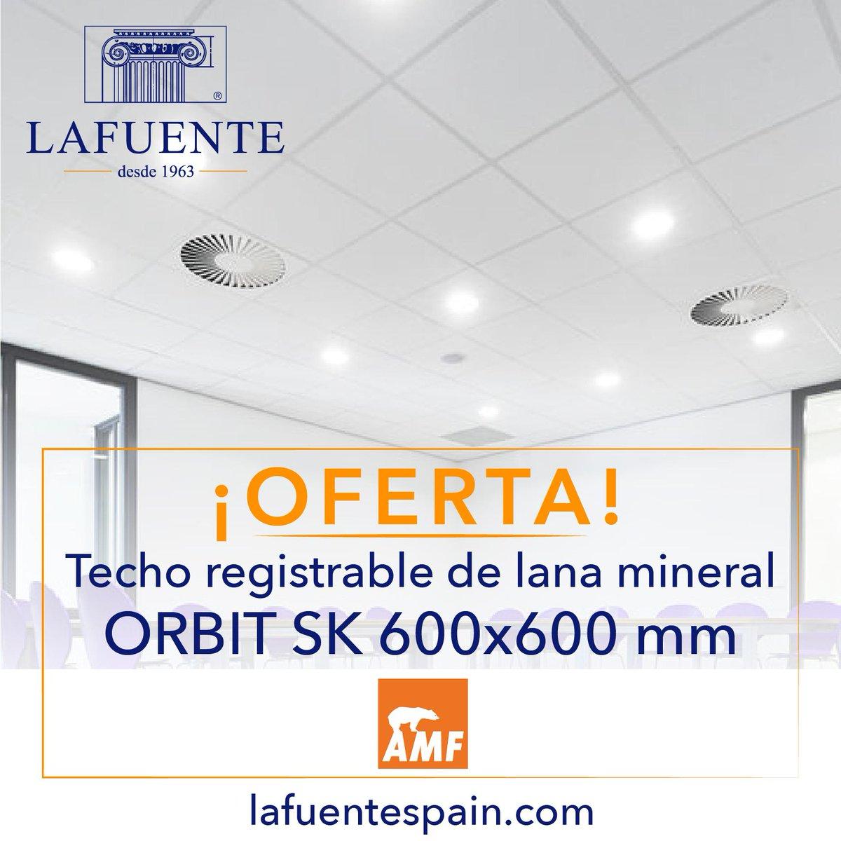 ¿Necesitas un techo registrable? ¡Aprovecha nuestra OFERTA! Techo registrable de lana mineral AMF ORBIT SK 600x600 mm. Puedes ver la oferta en nuestra web https://bit.ly/2InixUc Si necesitas más información llámanos al 91 341 07 50. #Oferta #Promoción #AMF #Orbit #Techo #Madrid