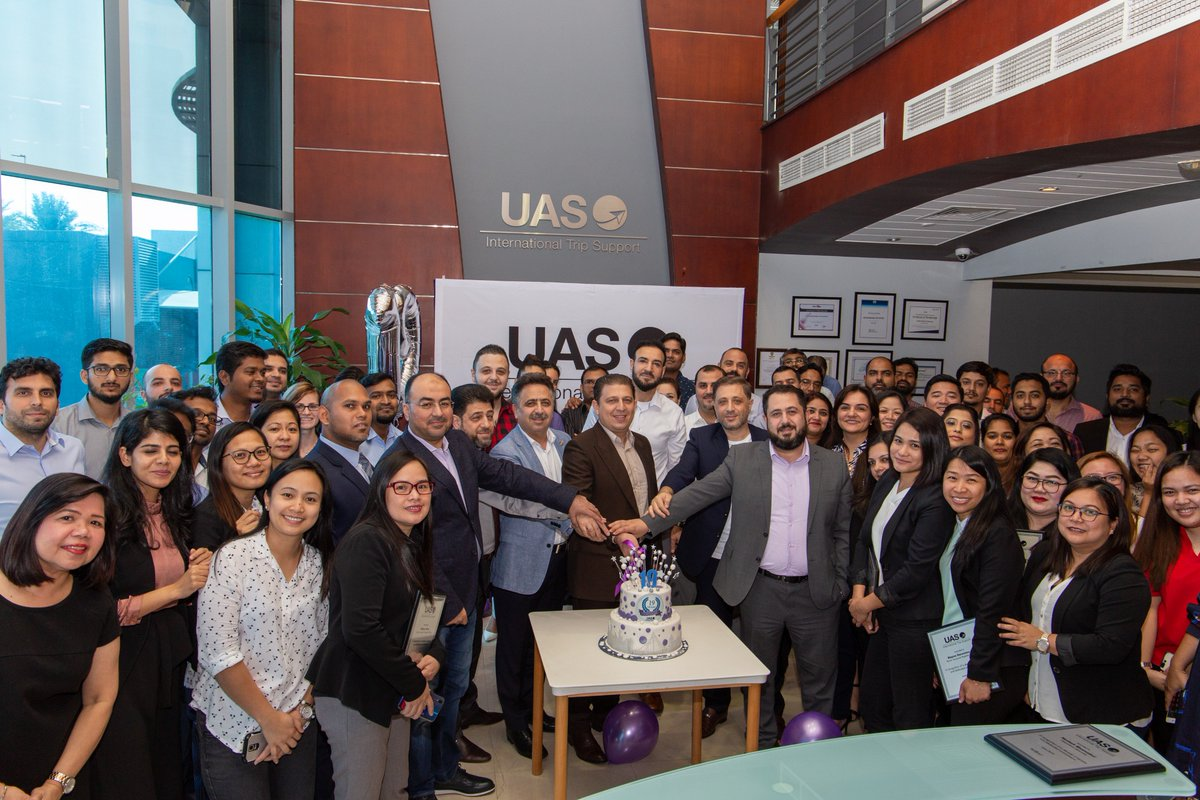 #UAS_aero is celebrating our 19th Anniversary & our recent win of the Sapphire Pegasus award for Innovation. We're also proud to honor some of our longest serving employees who have shared our journey over the past decade #MyUASfamily #tripsupport #bizav #LeadingTheIndustry https://t.co/hz6TvmuTrt