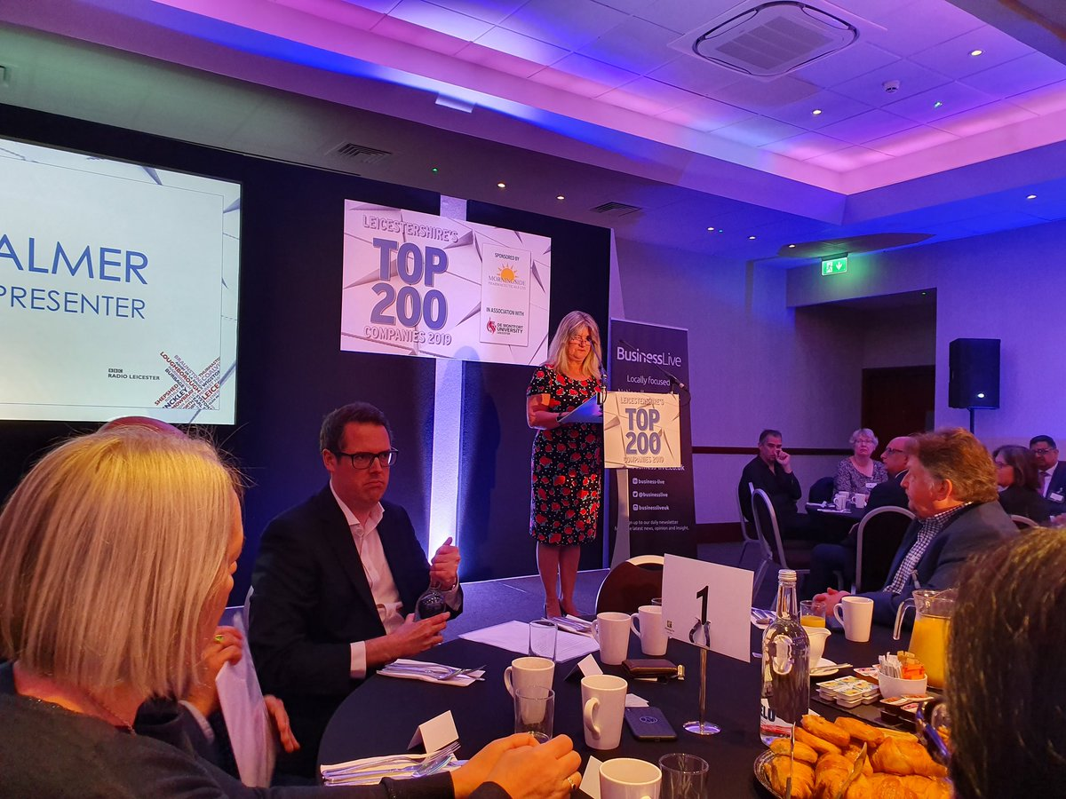 We're at the @businesslive #Top200Companies launch today. Opening address by Sara Palmer from @BBCLeicester<br>http://pic.twitter.com/Boh6vtymkt
