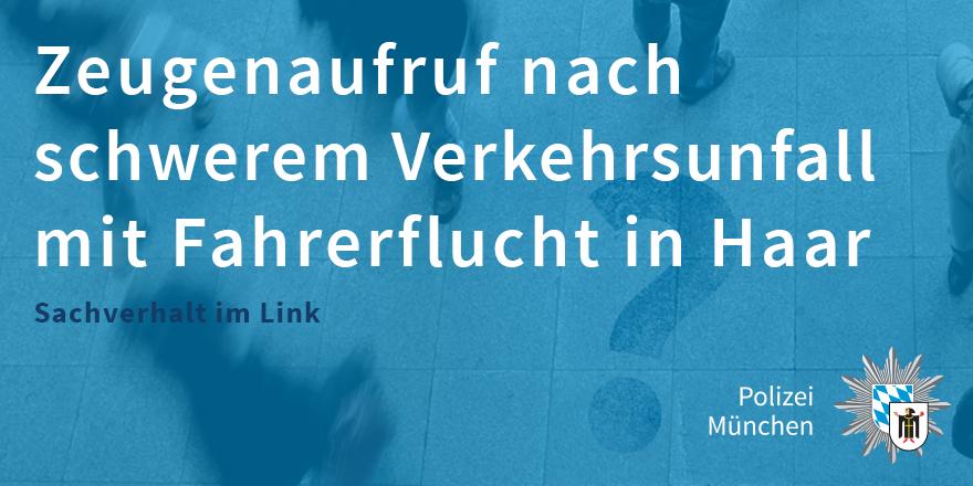Polizei München On Twitter Zeugenaufruf Verkehrsunfall Mit