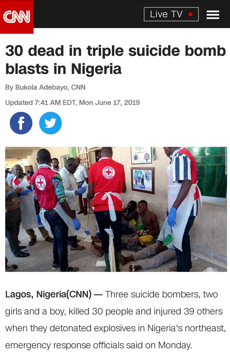 There was a triple suicide bomb attack in Maiduguri just two days ago that took the lives of up to 30 people?  Reading about it and realized that it was covered by mostly western publications. Are these reports true? Why are Nigerian publications not reporting it? I am confused.