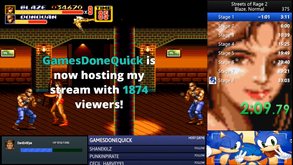 @GamesDoneQuick Thank you all for the massive host tonight. You all have my upmost respect. This means the world to me. #SGDQ2019<br>http://pic.twitter.com/x2h2Mi4i6r