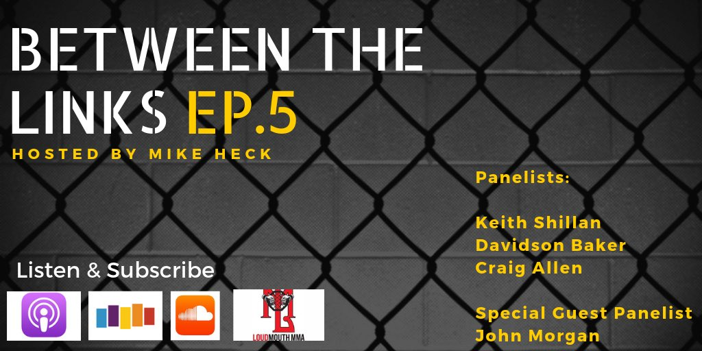 Ep. 5 of #BetweenTheLinks has arrived as the panel is joined by special guest @MMAjunkieJohn to discuss #Bellator222 — Chael Sonnen's retirement, Rory MacDonald's big win, what's next for Aaron Pico — a look ahead to #UFCGreenville & more.  LISTEN: http://podcasts.apple.com/us/podcast/loudmouth-mma-network/id1174683546#episodeGuid=tag%3Asoundcloud%2C2010%3Atracks%2F638357205…