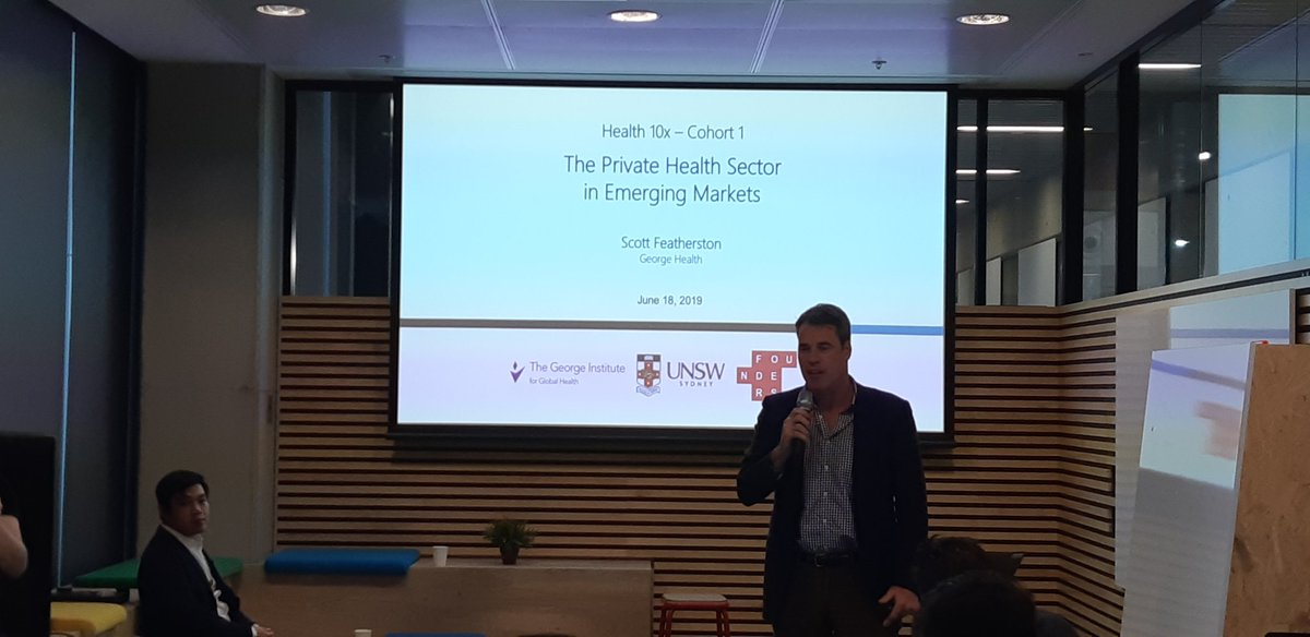 What an exciting day! We have kicked off our Health 10x speaker series with Healthcare in Emerging Markets presentation by Scott Featherston from @georgeinstitute UNSWFounders HEalthTech #Startups <br>http://pic.twitter.com/P466786RMv