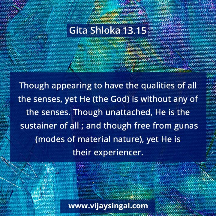 Gita Shloka 13 15 #BhagavadGita #gyan #GitaShlokas #Gita