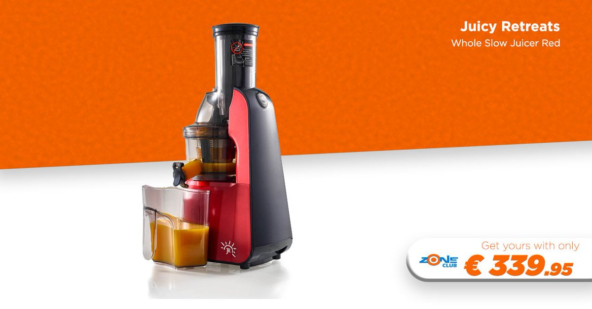 Juicy Retreats JR-8000S Whole Slow Juicer Red   The JR Ultra 8000 'S' is one of the most advanced wide feed chute slow juicers you can buy.  Buy now >>>   http:// bit.ly/2YWtVMl    <br>http://pic.twitter.com/PbqoMyPOPj