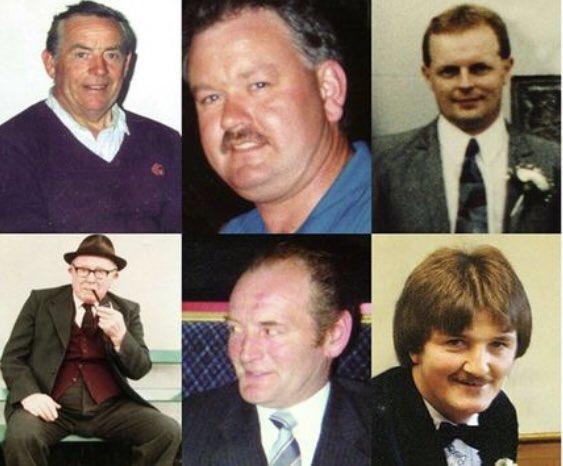 Vile senseless murders purely because of their religion. #NeverAgain  Adrian Rogan Michael Jenkinson Barney Green Daniel McCreaner Patrick O'Hare Éamon Byrne #Loughinisland<br>http://pic.twitter.com/vZjBiPOgAk