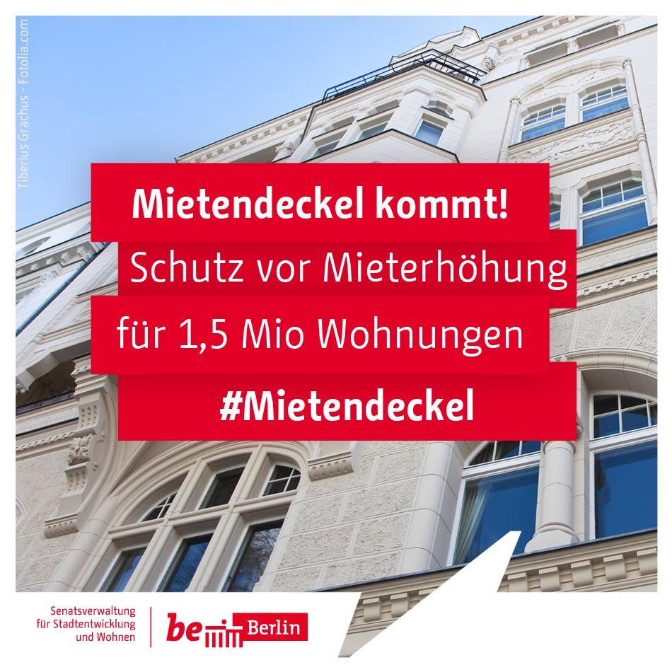#Berlin|er #Senat beschließt Eckpunkte zum #Mietendeckel: ✔️ 5 Jahre keine Mieterhöhung ✔️ Einführung einer Mietobergrenze ✔️ Neubau bleibt ausgenommen ✔️ Härtefallregelungen ✔️ Rückwirkende Geltung zum Zeitpunkt des heutigen Beschlusses