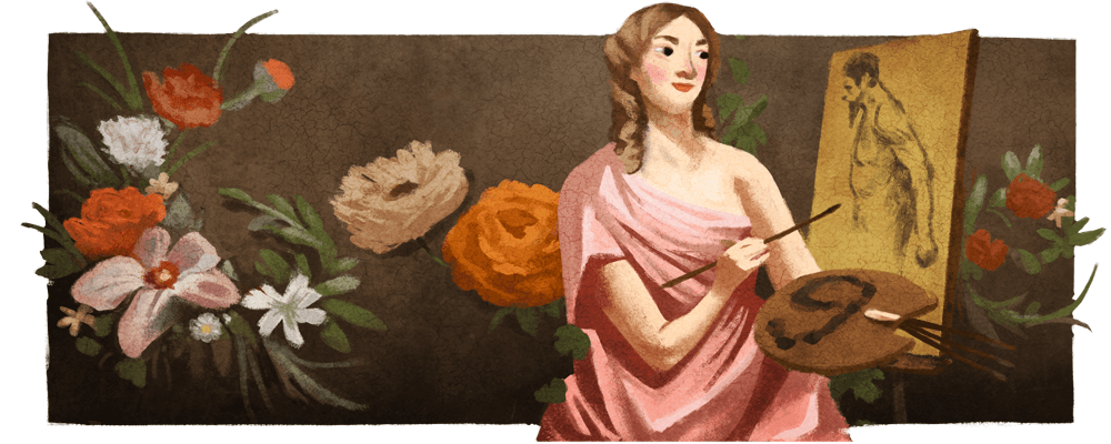 "#GoogleDoodle honors the 17th century Belgian artist Michaelina Wautier. Her paintings were long misattributed to other artists, but ""mysterious Michaelina"" is now considered ""Baroque's leading lady""  →  http:// goo.gle/2wB4t2K     <br>http://pic.twitter.com/i0iuW4mVbb"