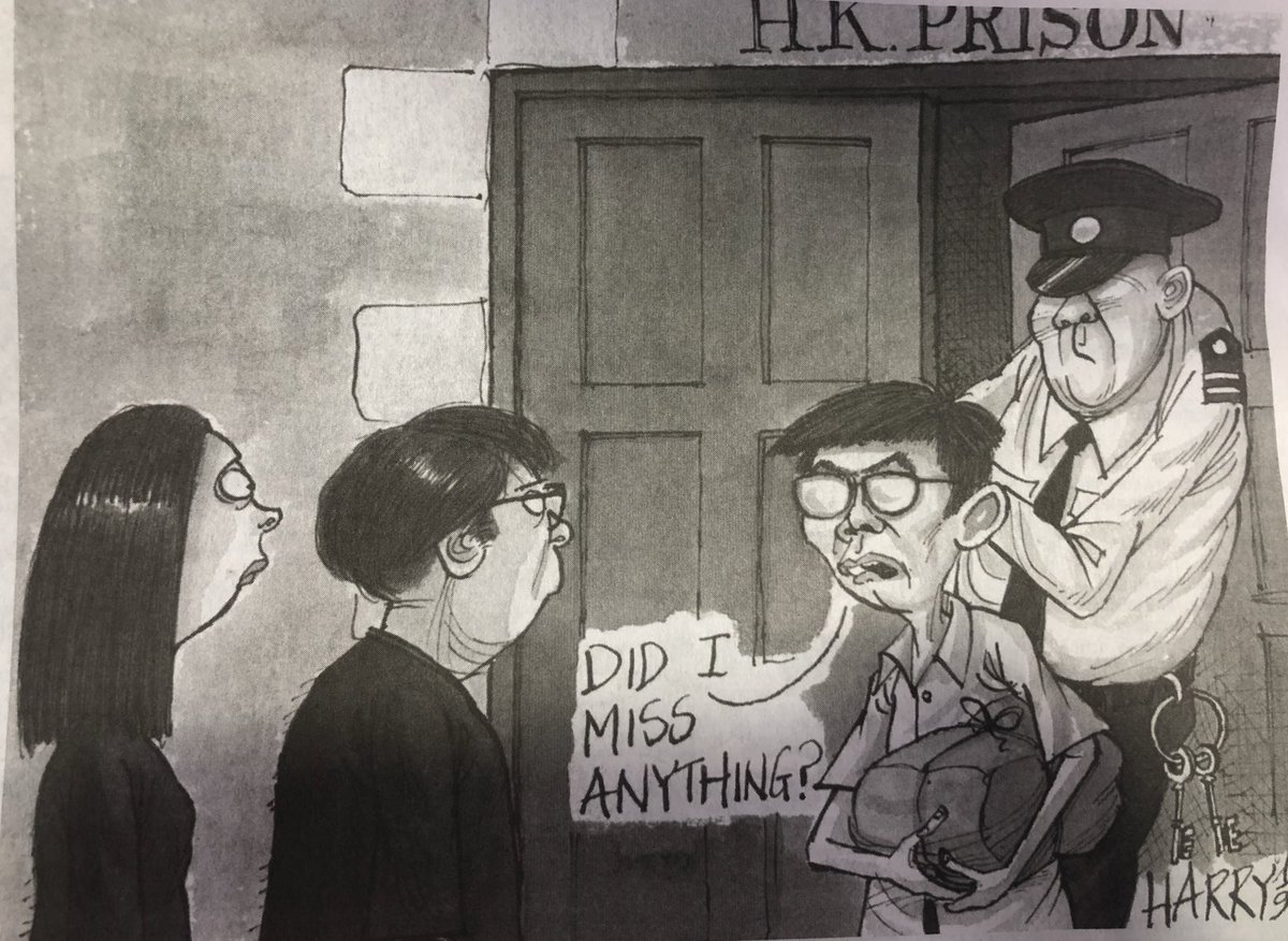 Basically everything, @joshuawongcf - but welcome back!  Harry's take on @SCMPNews today. #extraditionbill