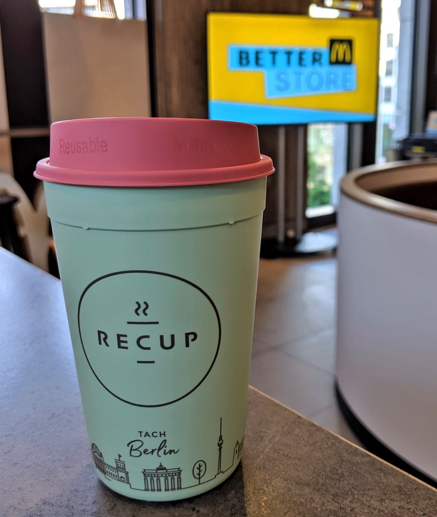 RT @recup2go: Im #betterm Store von @McDonaldsDENews gibt's den #coffeetogo jetzt im #RECUP 💪 https://t.co/Ehsn5794cR
