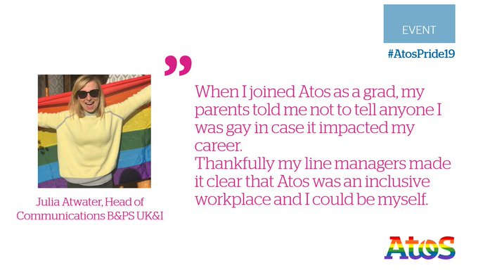 Learn more about The #AtosPride #LGBT+ and Allies network from @juliaatwater. Our network is...