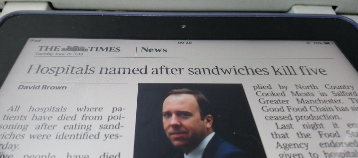 Personally feel not enough hospitals are named after sandwiches.