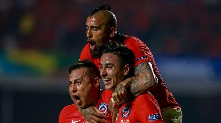 🌍 | Anche di testa? 👏  Ieri @ErickPulgar ha segnato il gol del vantaggio contro il Giappone in #CopaAmerica   Vamos Erick 🎯  #WeAreOne #LaRoja