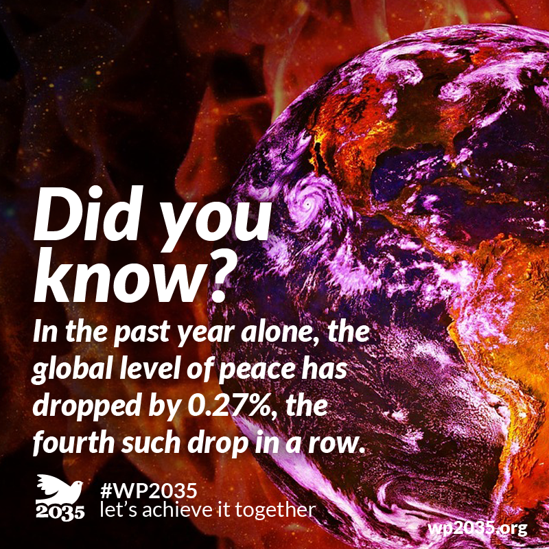 Did you know?  Sign our petition: https://is.gd/PR2020IT  Donate via PayPal: https://is.gd/wpdonate  #WorldPeace #WorldPeace2035 #awareness #cause #petition #achievement #NGO #NPO #Book #change #donations #charity #world #peace #Priority2020 #foodforthought #ToPeace #IpeaceYou