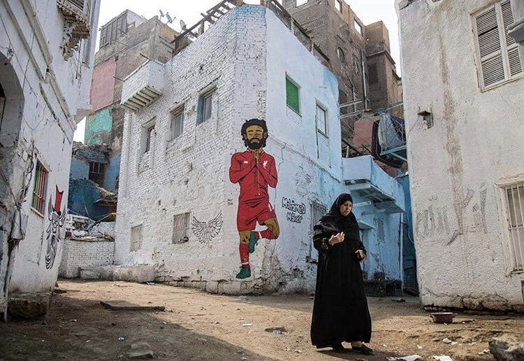 Nothing beats street art for me, especially when it's Salah on a building in Egypt 👑
