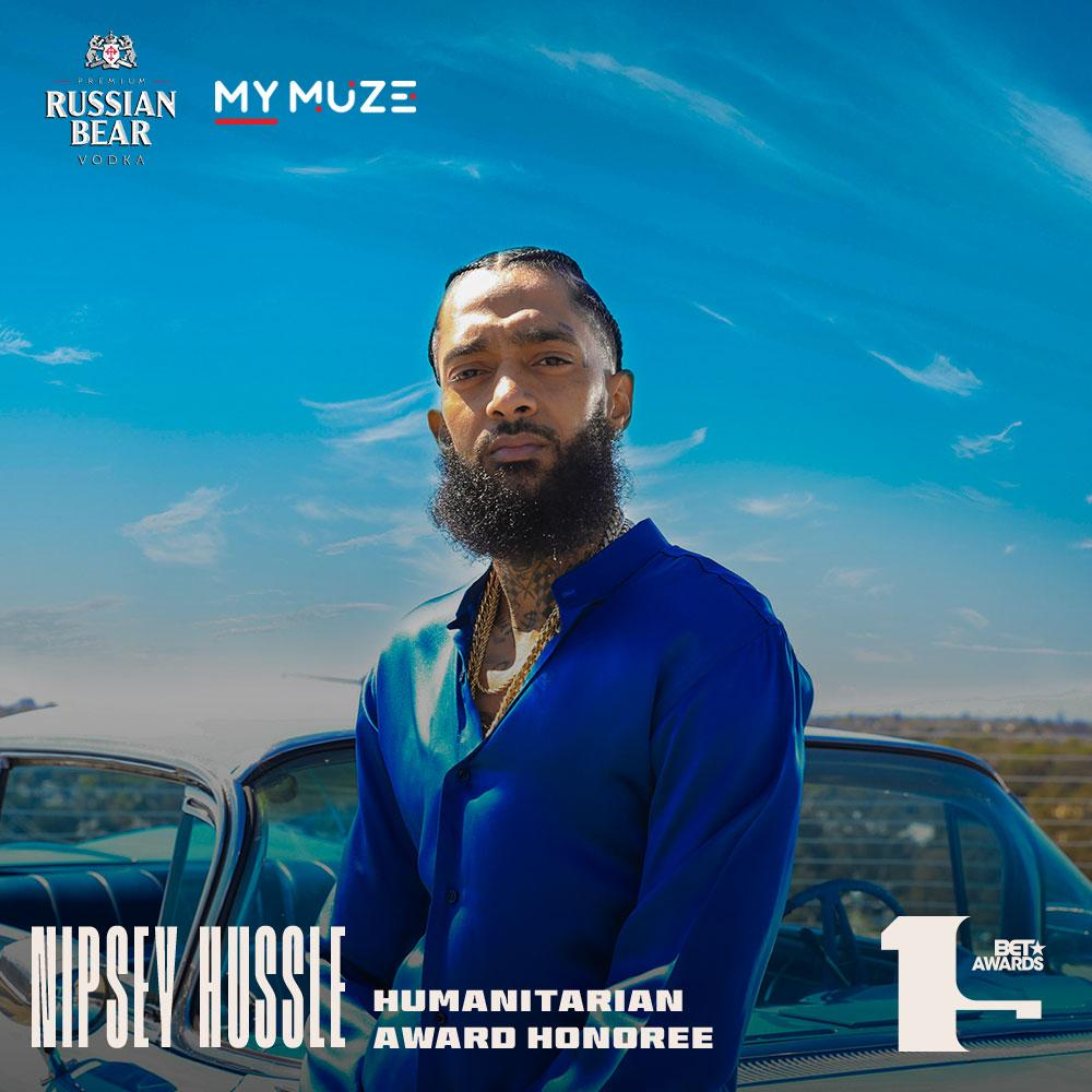The late #NipseyHussle will be receiving a humanitarian award at the 2019 @BETAwards in LA.  #BETAwards <br>http://pic.twitter.com/Z6gSVU88oJ