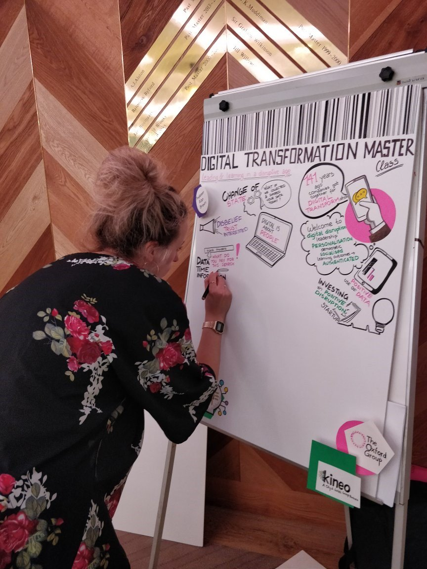 Our illustrator Ieva is busy capturing all the outputs from todays digital masterclass - spot anything interesting? #DTMasterclass