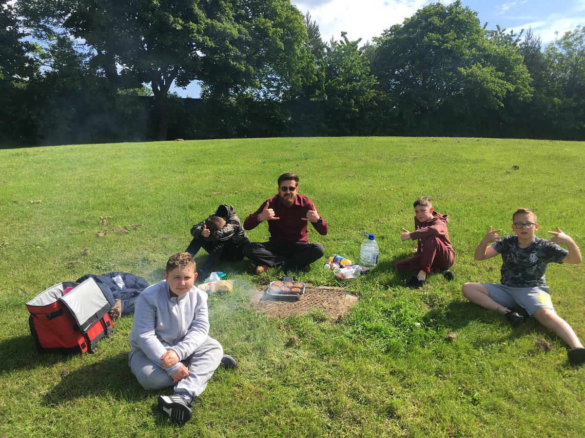 Nice little well-being trip today. keeping it simple and something the boys have said they hadn't experienced before. A BBQ in the park #BBQ #wellbeing #outdoorlearning #outdoored #outdooreducation #summertime #sizzling #burgersinthepark #getoutwiththekids