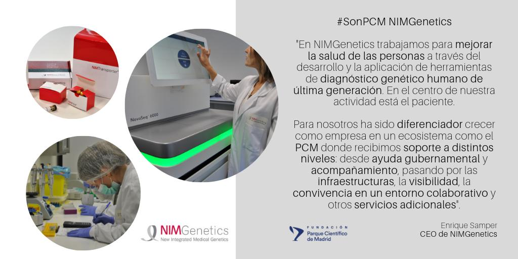 🗣️En @NIMGenetics identifican la causa #genética del trastorno para establecer un #diagnóstico de certeza que permite al #médico, #paciente y #familia tomar decisiones en base al pronóstico y a la disponibilidad terapéutica 👏👩🔬👨🔬¡Mucha #innovación en nuestras #SonPCM!