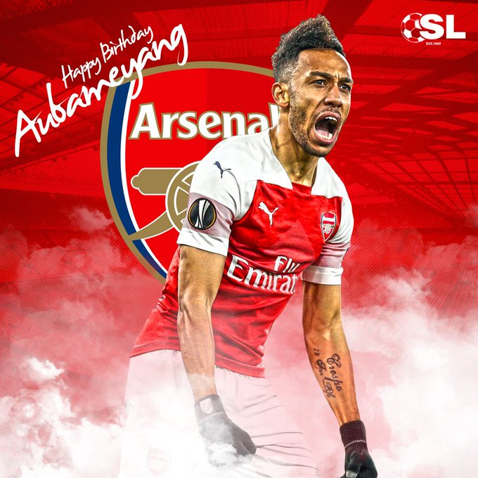 Happy Birthday to forward, Pierre-Emerick Aubameyang!