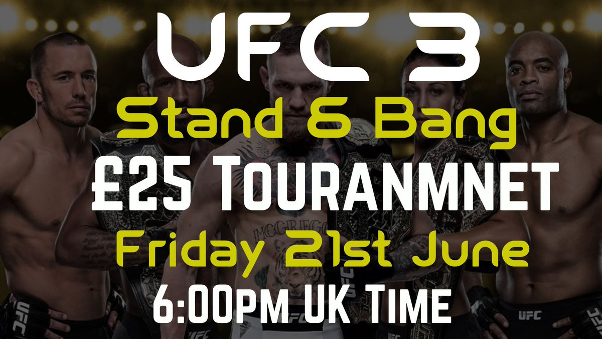 Wanna throw some hands!? Subscribe to my YouTube channel & register now for the UFC 3 Stand & Bang £25 Tournament!  All details are on the signup page - https://challonge.com/tournaments/signup/2xlD3m5BCZ…  #ufc3 #ufc #ps4  #winmoney #denveloper