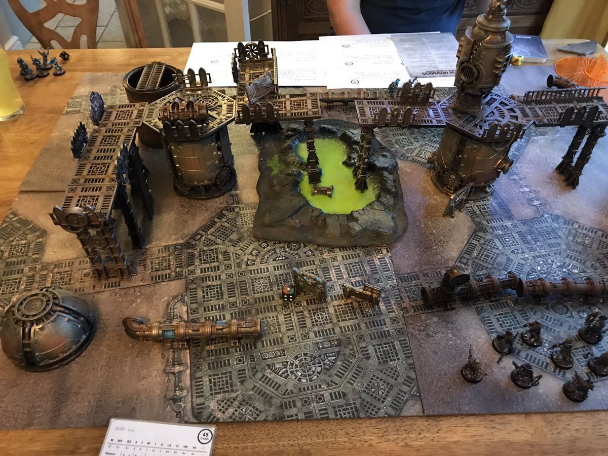 Another journey into the underhive last night with Chris Gough and his awesome 3D set up 😀 #the2pspodcast #warmongers #warhammer #wargaming #tabletopgaming #gw #miniatures l #fantasy #scifi #gamesworkshop #warhammer40k #underhive #necromunda #forgeworld #gangwar #cawdor