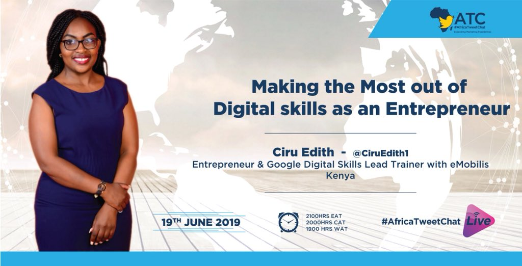 Have you been making the most out of your Digital Skills in your business as an entrepreneur? Join us tomorrow as we host @CiruEdith1 for this and more. #AfricaTweetChat<br>http://pic.twitter.com/tfrkejMJEB