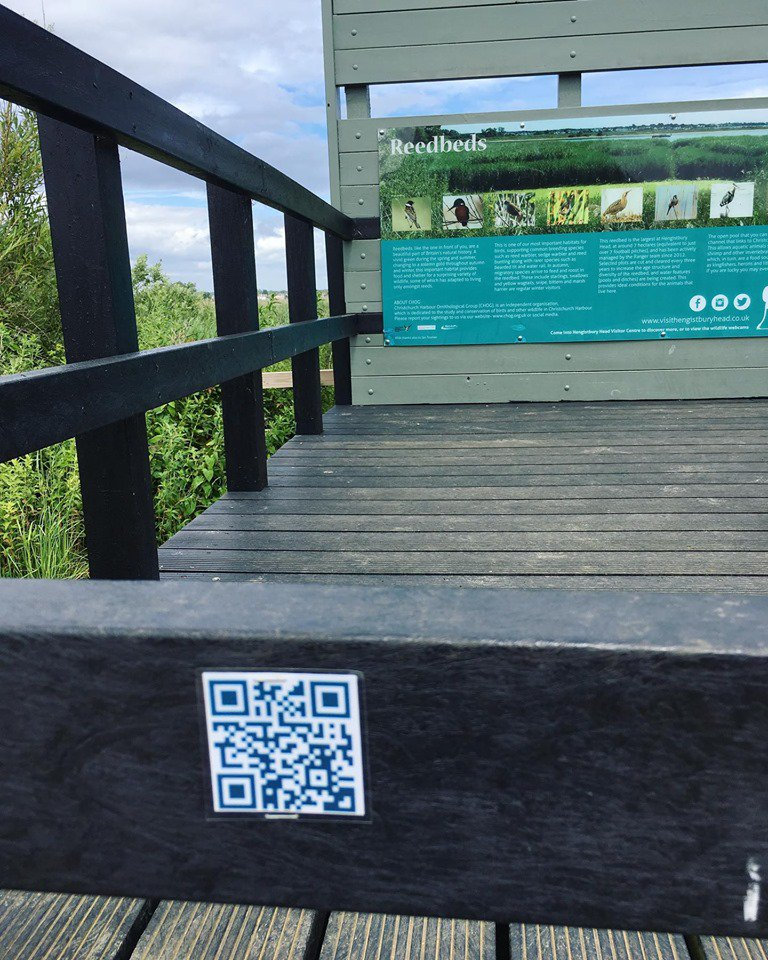 Come down to Hengistbury and see what cool things these QR Codes have to offer! Just download a QR reader from your App Store and scan to reveal the info! #QRcode #Hengistburyhead <br>http://pic.twitter.com/VG7kWFnHWC