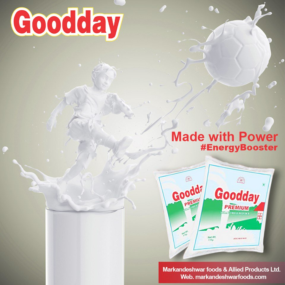 Made With Power Drink Goodday Milk Daily, This Keep Your Energy Level Boasted Whole Day ✅Perfect Start Of the Day With #Good_Milk_Powder Get Your Pack Now Product by: @MarkandeshwarF  Call : 9896370720, 97293 44011 #markandeshwarfood #calcium #surce #gooday #puremilkpowder