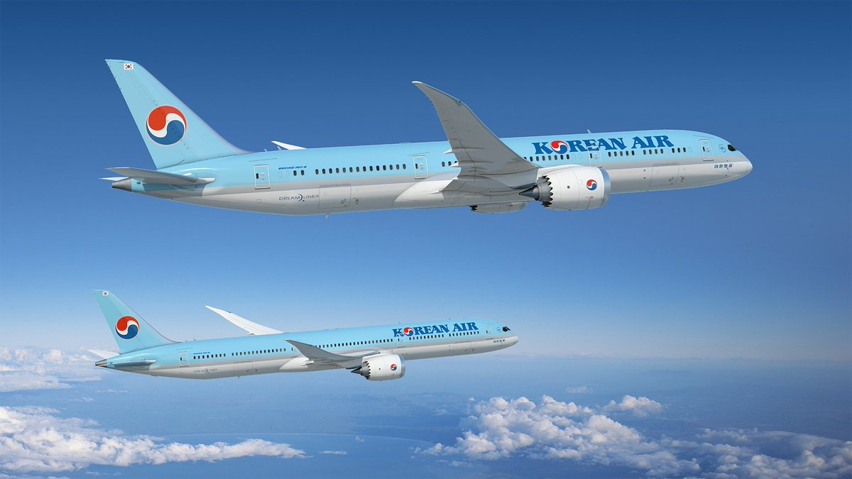 Today @KoreanAir_KE announced intent to acquire 30 787 #Dreamliner jets, including adding the 787-10 to take advantage of more seats, more range and better efficiency. Korean Air will lease 10 of the jets from Air Lease Corp (ALC).  RELEASE: https://boeing.mediaroom.com/2019-06-18-Korean-Air-Announces-Intent-to-Acquire-30-787-Dreamliners…