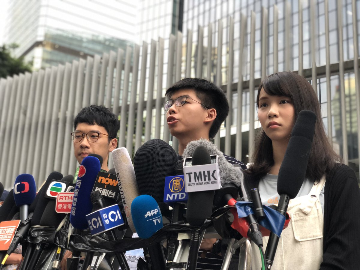 """Demosisto leader @joshuawongcf has condemned Chief Executive Carrie Lam for ignoring 2 million people's demands to withdraw the #ExtraditionBill & probe police brutality. He calls her public apology """"fake"""",  warning that more protests may follow"""