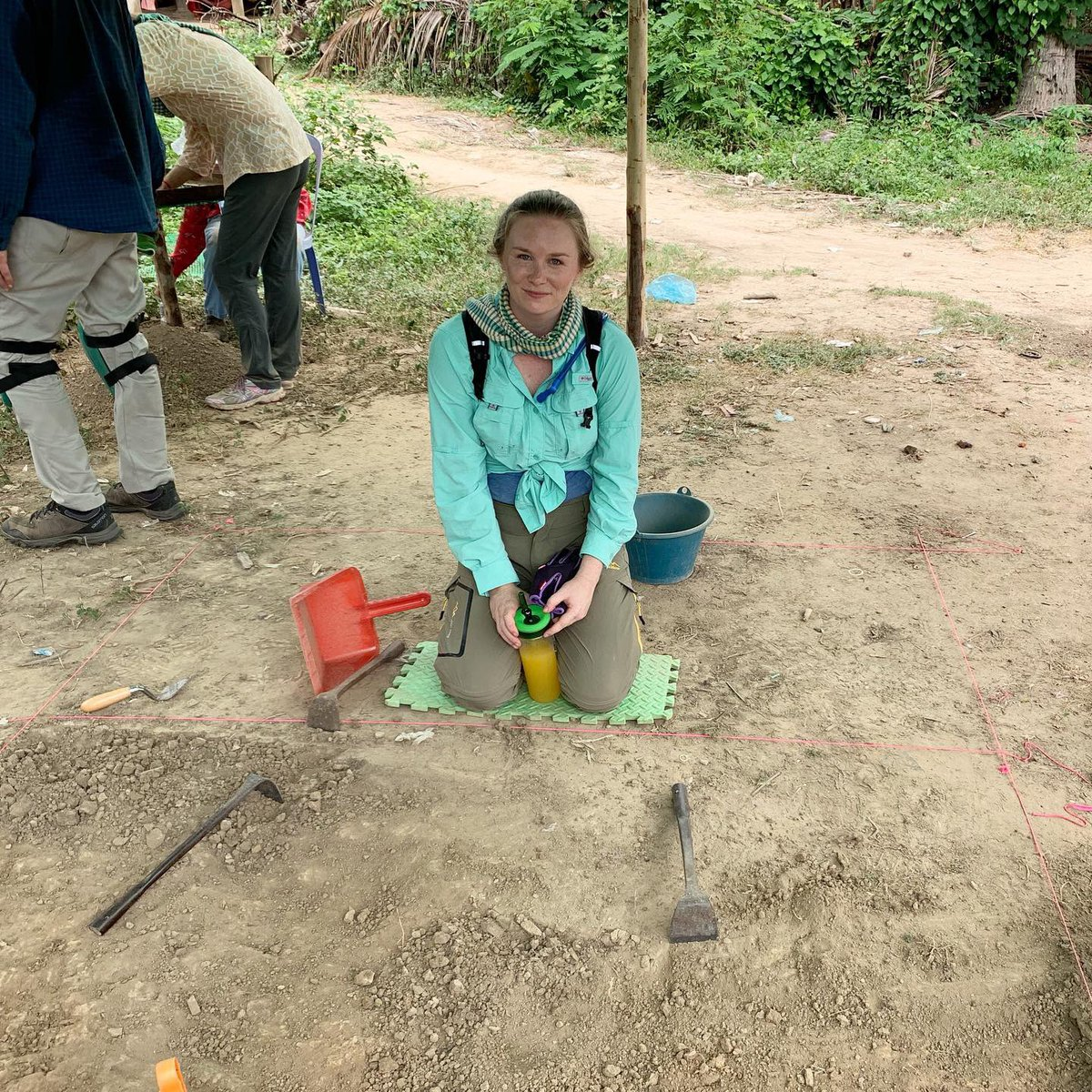 From our fieldwork yesterday! I love learning new skills, and it was so fun learning how to map, measure, and excavate. #archeologicalexcavation #maloriesadventures #maloriemackey #archeology #archeologicaldig #cambodia #battambang #baset #basettemple