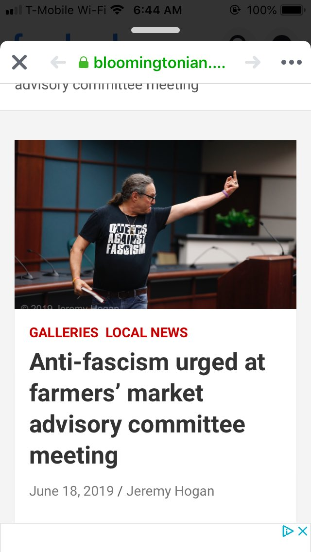 Joe Varga in action at a community meeting about two white nationalists who are part of a Bloomington, IN farmers market https://bloomingtonian.com/2019/06/18/anti-fascism-urged-at-farmers-market-advisory-committee-meeting/…