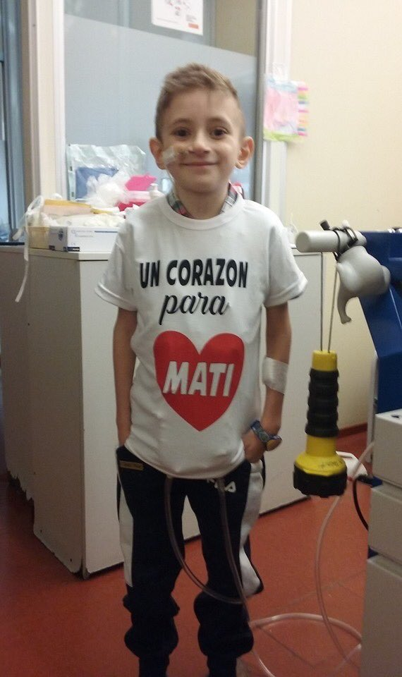 X favor difundir!!!! Mati tiene 7 años se encuentra internado en el hospital Garraham y necesita urgente un trasplante de corazón